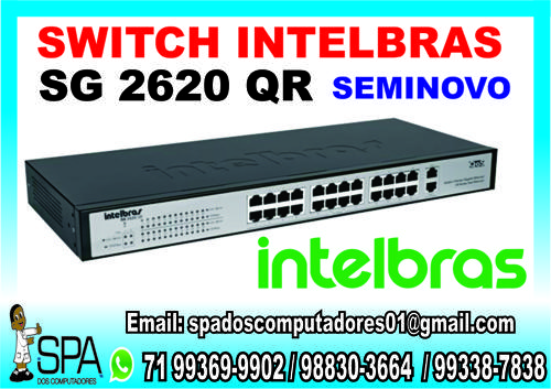 Switch Intelbras Sg 2620 Qr De 24 Portas Seminovo Em Salvador Ba (1)