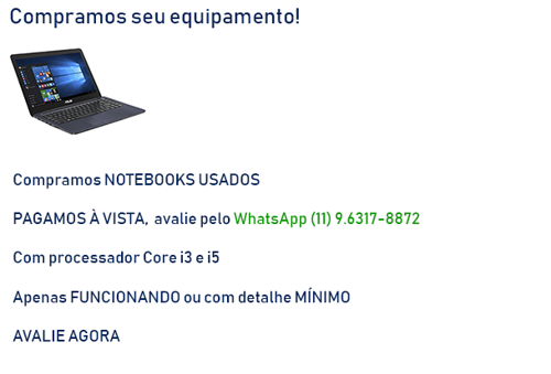 Compramos Notebooks Usados Intel Core I5 E I3 – Pago A Vista (1)