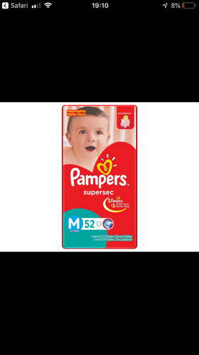 Fraldas Pampers Supersec M, 52 Fraldas (1)