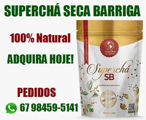 Emagrecedor Superchá Seca Barriga 100% Natural (2)
