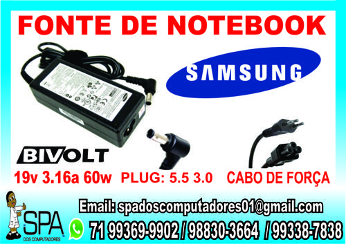 Fonte Carregador Notebook Samsung (1)