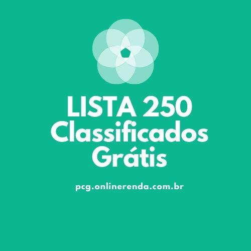 Lista Com Sites De Classificados Grátis Mais De 250 Sites  (1)