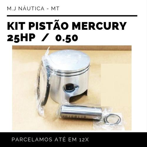 Kit Pistão Mercury 25 Hp  (1)